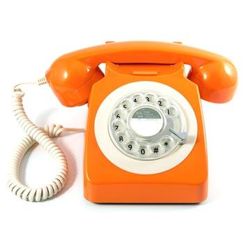 Telefon / Bordstelefon GPO 746 Orange
