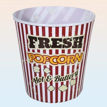 Popcornskål rund, 18 cm hög