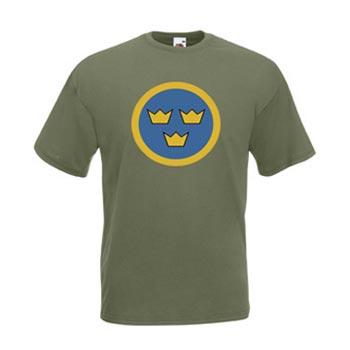 Air Force Sweden / Olivgrön - XXL (T-shirt)