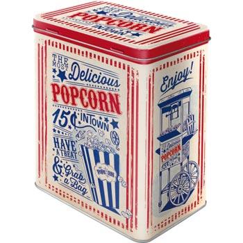 Plåtburk L Retro / Popcorn