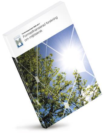 Formasfinansiera Forskning Om Miljöteknik - Forskningsprojekt 2008-2017
