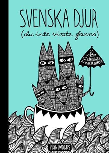 Svenska Djur (du Inte Visste Fanns) - 20 Vykort Att Färglägga