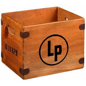 Skivback i trä för LP-skivor / LP