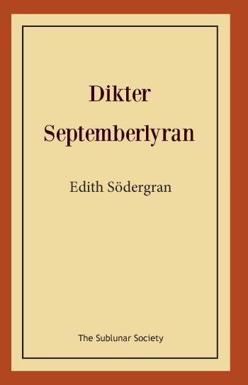 Dikter- Septemberlyran