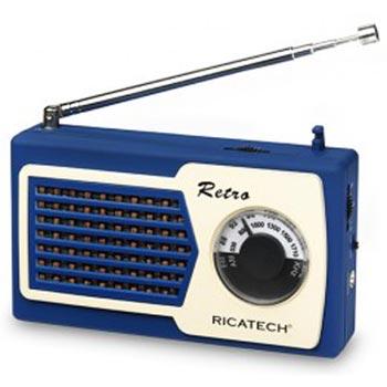 Ricatech PR22 Compact Retro Radio / Blue
