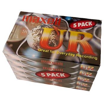 Kassettband Maxell UR C-90 5-pack