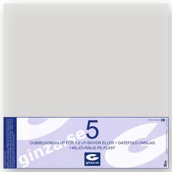 Skyddsplast för LP-Skivor Gatefold (0,14 mm) 5-p