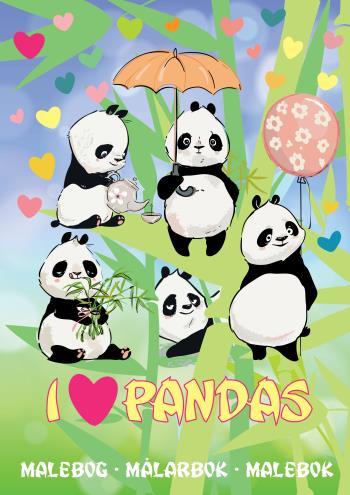 I Love Pandas Målarbok