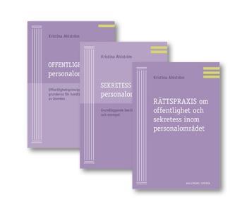 Offentlighet Och Sekretess Inom Personalområdet - Paket Med 3 Böcker