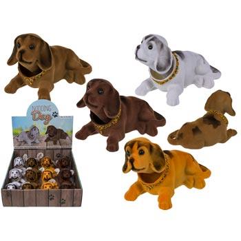 Nickande hunden 12 x 8 cm