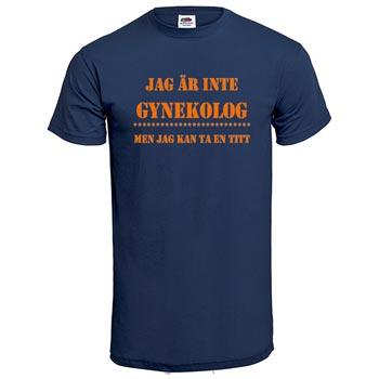 Jag är inte gynekolog / Mörkblå - XXL (T-shirt)