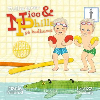 Tvillingarna Nico Och Phille På Badhuset