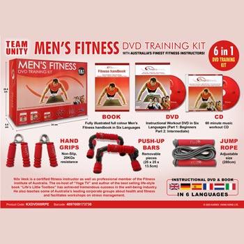 Träningskit / Men's fitness (DVD+CD+Utrustning)