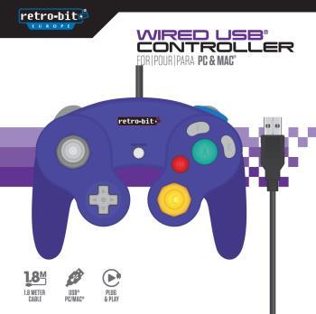 Retro-Bit Gamecube USB Contr.Purple