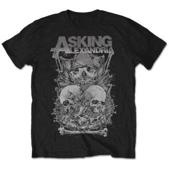 Asking Alexandria: Unisex Tee/Skull Stack (Small)