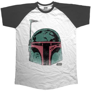 Star Wars: Unisex Raglan Tee/Boba Head (X-Large)