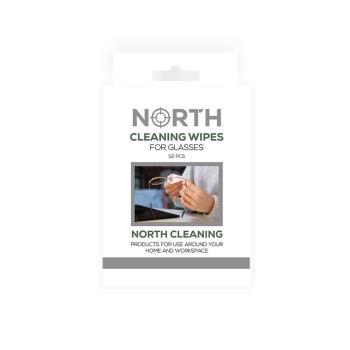 NORTH Rengöringsdukar för Glasögon 52-pack