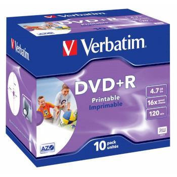 DVD+R Verbatim 4.7GB 16X 10-pack Jewelcase Prin