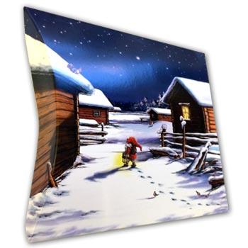 Julklappsomslag CD Tomtebyn