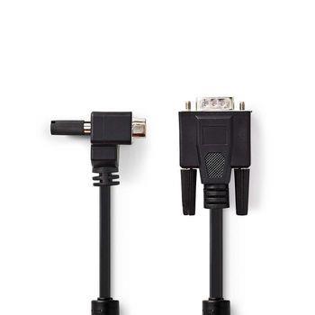 Nedis VGA-kabel | VGA Hane | VGA Hane | Nickelplaterad | Maximal upplösning: 1280x800 | 2.00 m | Rund | ABS | Svart | Plastpåse