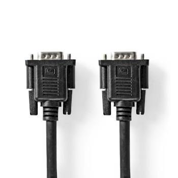 Nedis VGA-kabel   VGA Hane   VGA hona 15p   Nickelplaterad   Maximal upplösning: 1280x800   2.00 m   Rund   ABS   Svart   Plastpåse