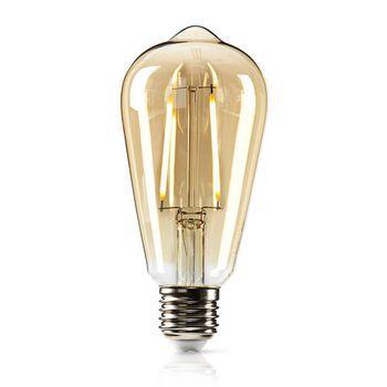 Nedis LED Glödlampa E27 | ST64 | 5.4 W | 380 lm | 2500 K | Varm Vit | Retrostil | Antal lampor i förpackning: 1