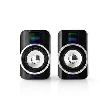 Nedis Spelhögtalare | 2.0 | RGB | USB-drivet | 3.5 mm-uttag | RMS 10 W