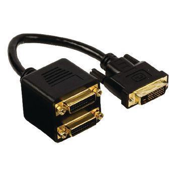 Valueline DVI-Kabel DVI-D 24+1p hane - 2x DVI-D 24 + 1-Pin Hona 0.20 m Svart