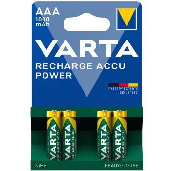 Varta Laddningsbara NiMH-batteri AAA 1.2 V 1000 mAh 4-Blister