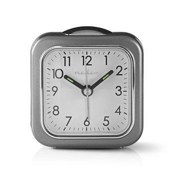 Nedis Analog skrivbords alarmklocka | Snooze-funktion | Bakgrundsbelysning | Grå / Vit