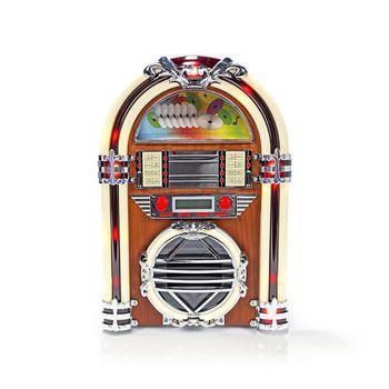 Nedis Jukeboxradio i bordsmodell FM/AM-radio och CD-spelare 3 W brun