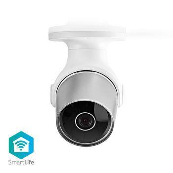 Nedis Wi-Fi smart IP-kamera för utomhusbruk vattentät Full HD 1080p