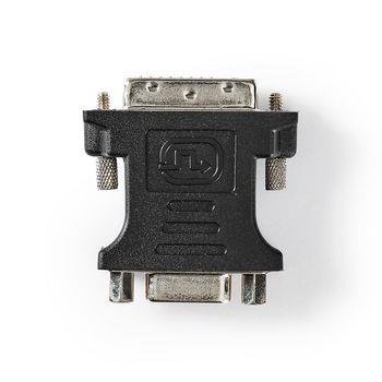 Nedis DVI adapter | DVI-D | VGA hona 15p | Nickel | Rak | PVC | Svart | Plastpåse