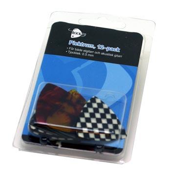 Plektrum 12-pack / RockOn 0,71 mm